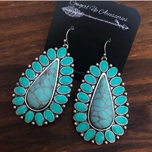 Jewelry - Turquoise Cluster Earrings